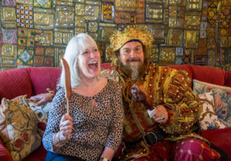 My Table editor/publisher Teresa Byrne-Dodge with the RenFest King. Photos by Becca Wright