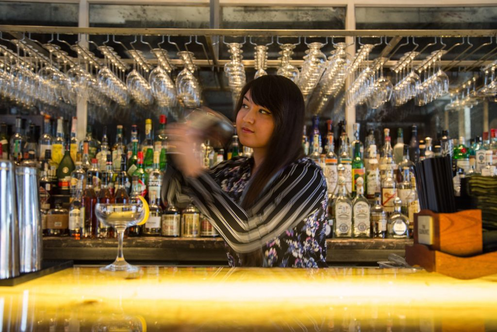 Bartender Akiko Hagio continued to build on the success of Sanctuari Bar, which was originally woman(ed) by Leslie Ross and Laurie Harvey. Photo by Becca Wright-1
