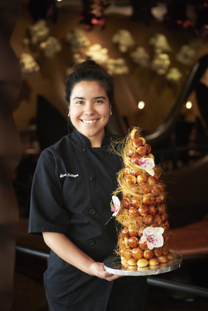Almendra Callirgos, executive pastry chef of Cordua Restaurants. Photo by Dragana Harris