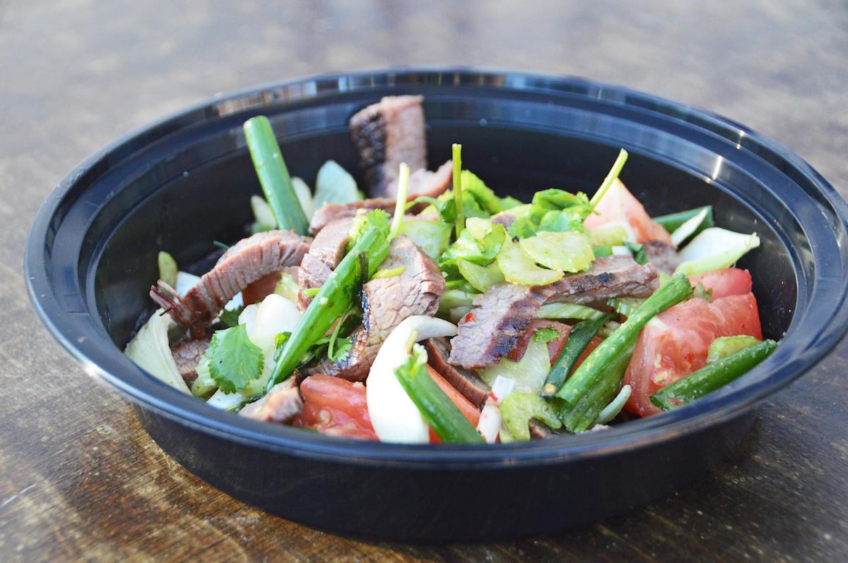 Grilled beef salad at Sap Sap Thai pop-up