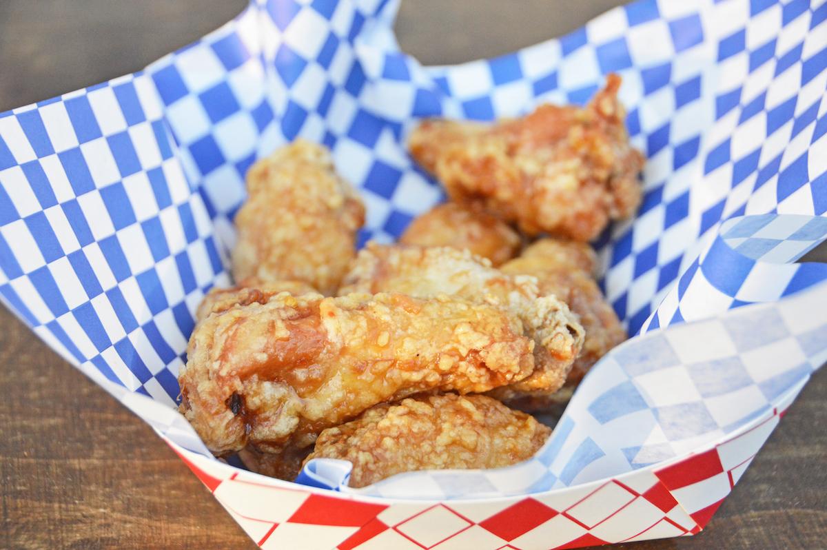 Chicken wings at Sap Sap Thai pop-up