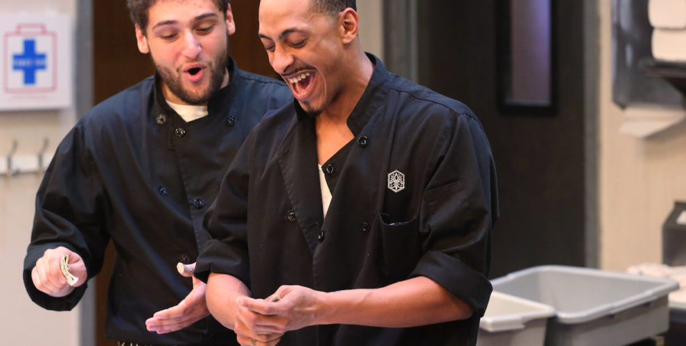 Gabriel Regojo and Brandon Morgan in Stages Repertory Theatre's production of My Mañana Comes. Photo by Jon Shapley