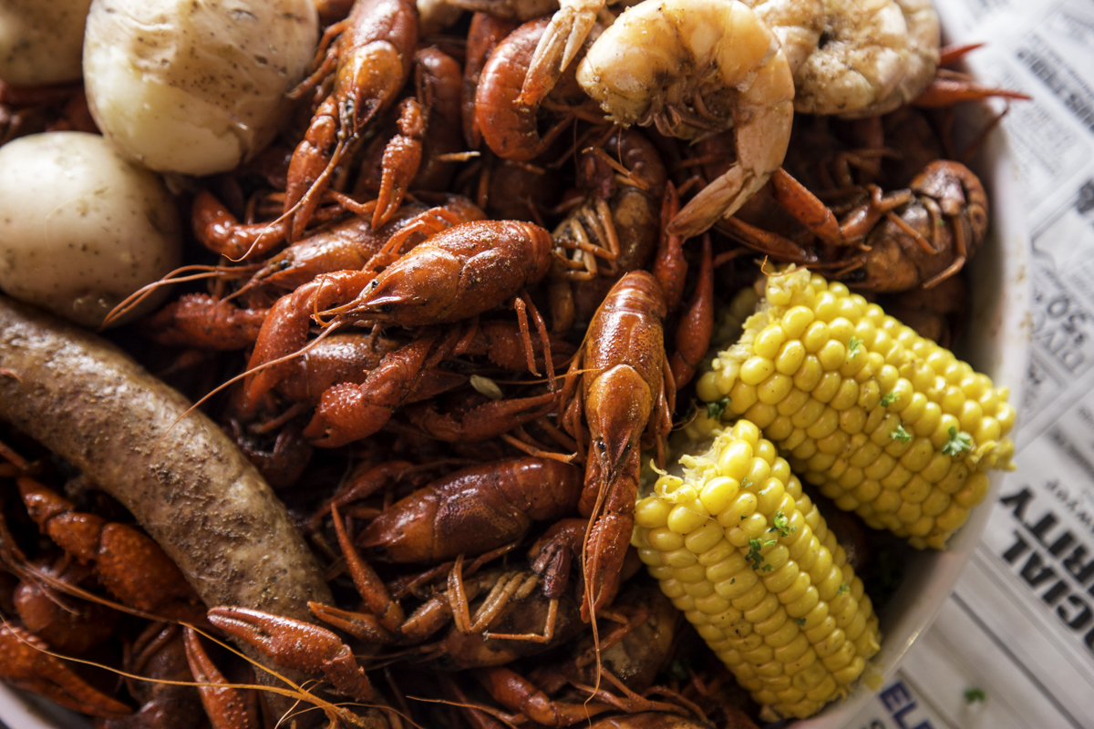 Ragin' Cajun crawfish. Photo by Rebecca Wright
