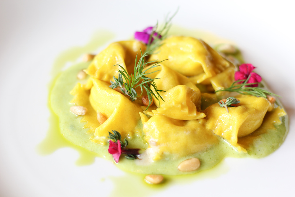 Agnolotti al Plin stuffed with Fontina and Truffle