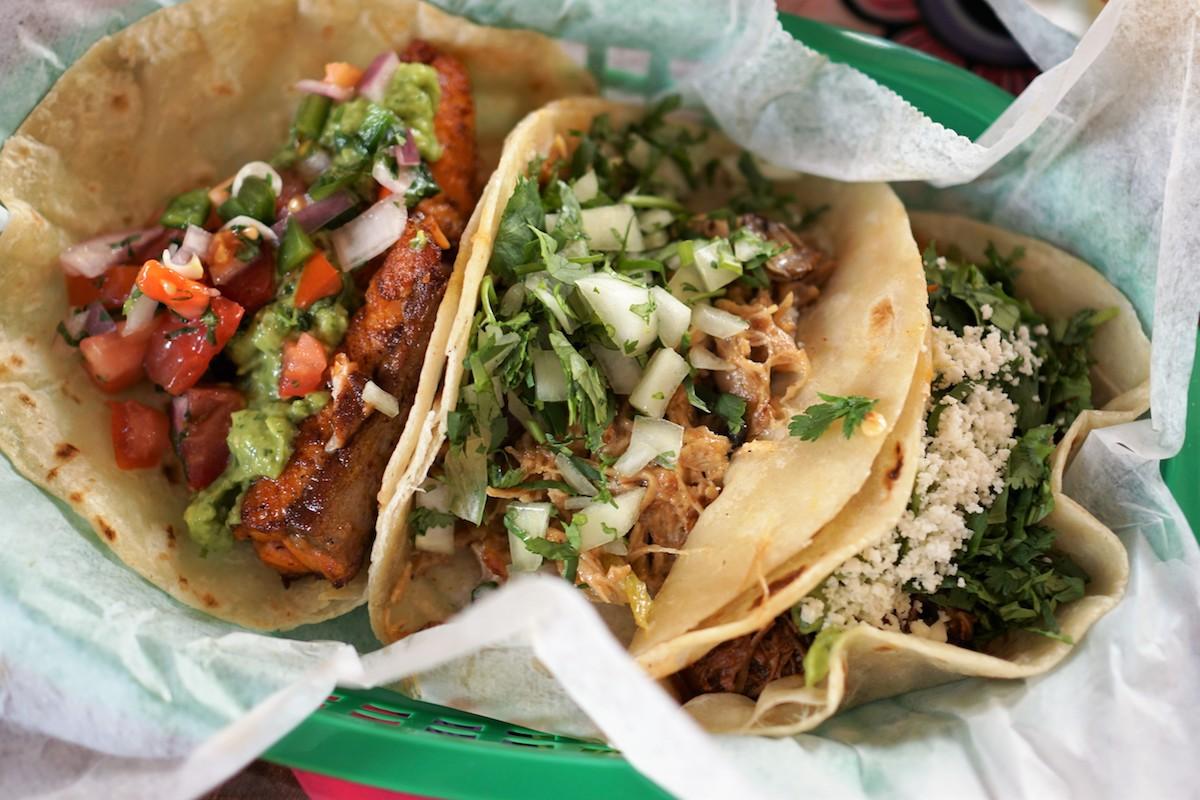 Tacodeli's Mojo Fish, Happy Taco, Tacoloco