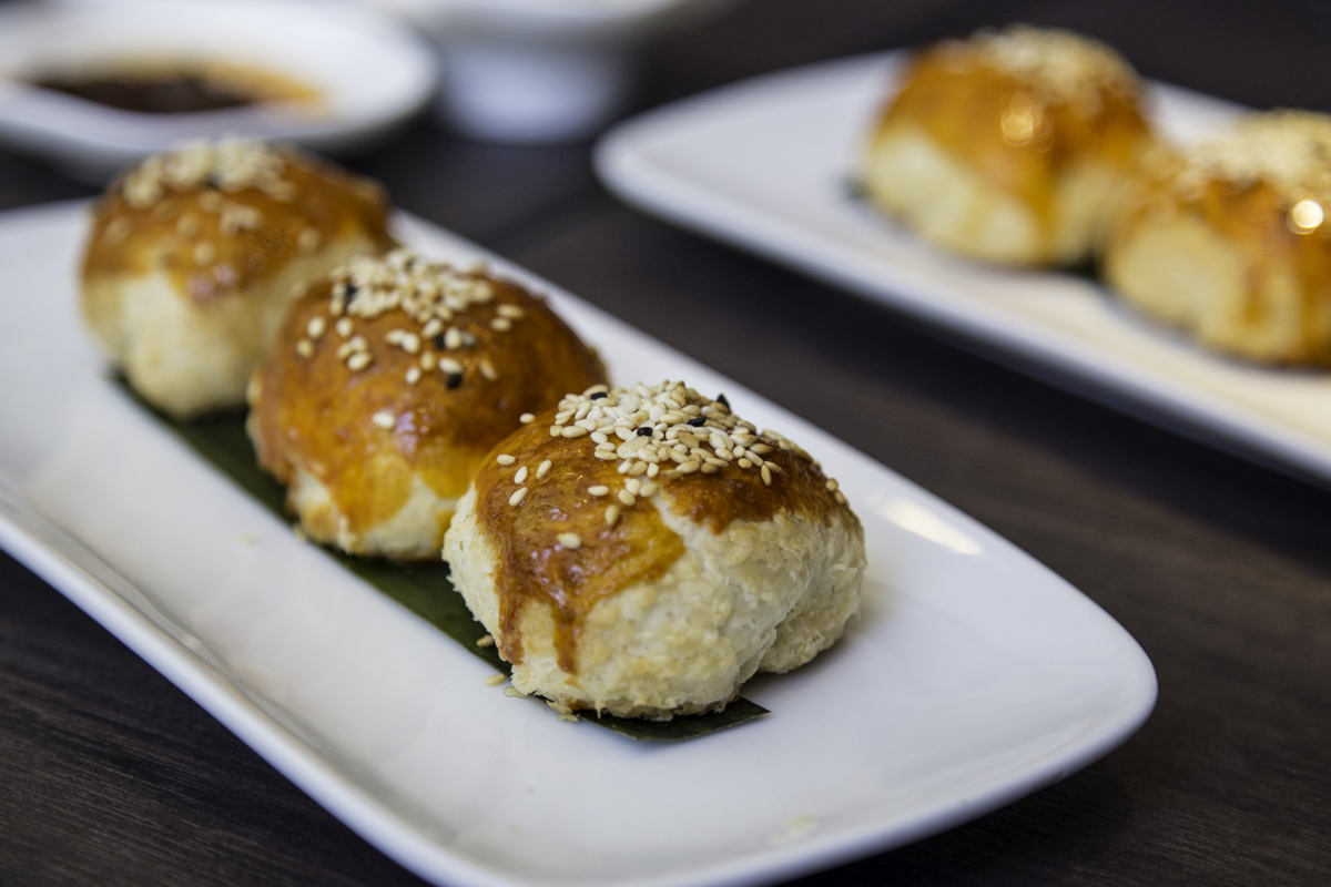 Venison puffs at Yauatcha. Food photos by Becca Wright