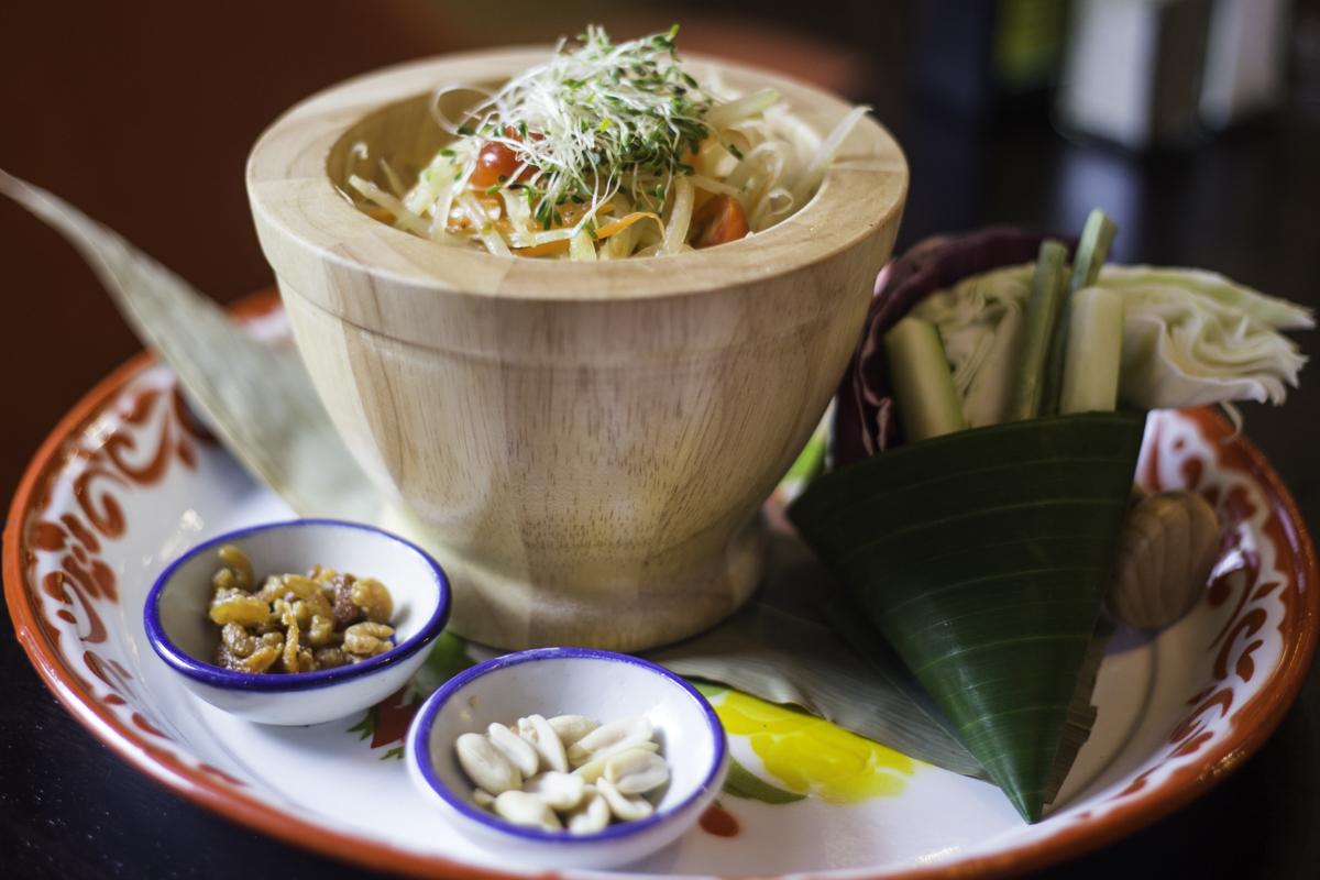 The papaya salad at Rim Tanon