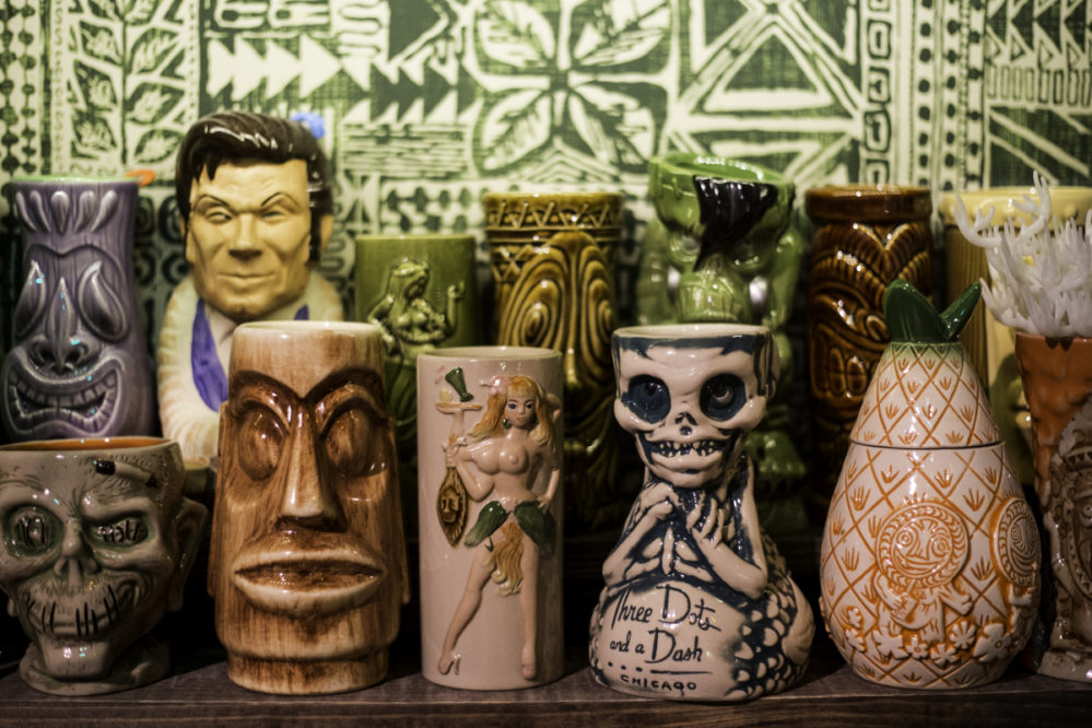 Mugging down at Houston rum and tiki bar, Lei Low. Photos by Becca Wright