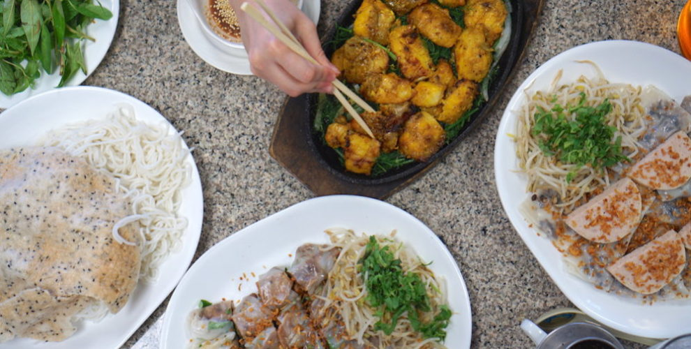 A spread of Vietnamese food at Thien Thanh. Photos by Mai Pham