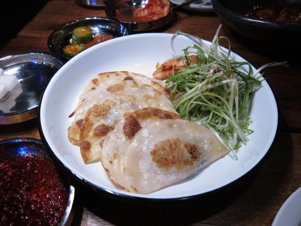 flat dumplings at Ohn Korean Eatery