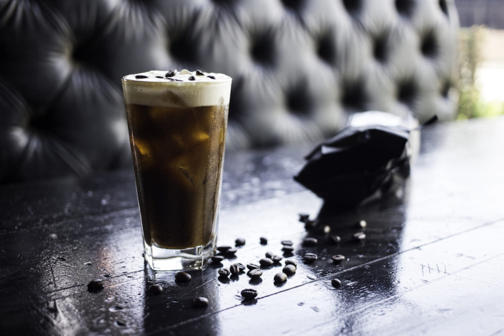 The Morning Wood ($9) features cold brew coffee, coconut rum, espresso liqueur, cocoa nib bitters and maple-chicory foam.