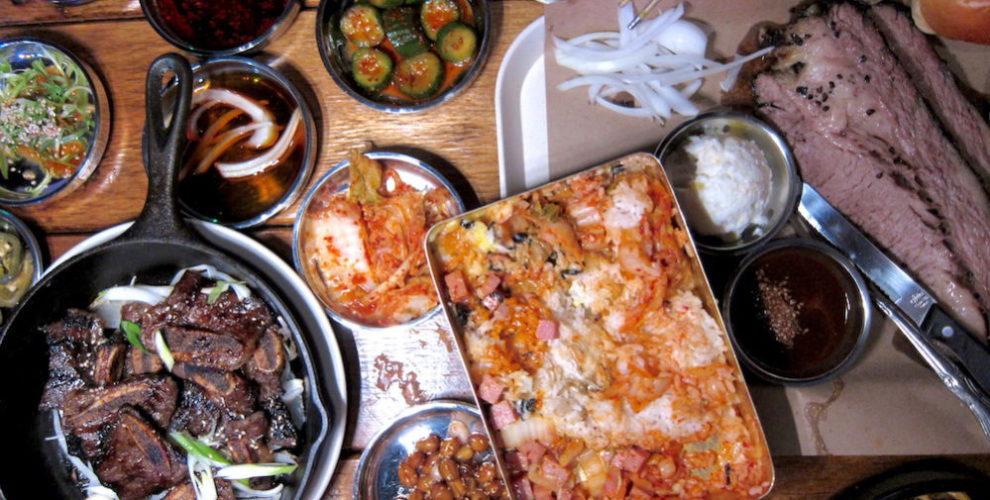 Spread of food at Ohn Korean Eatery