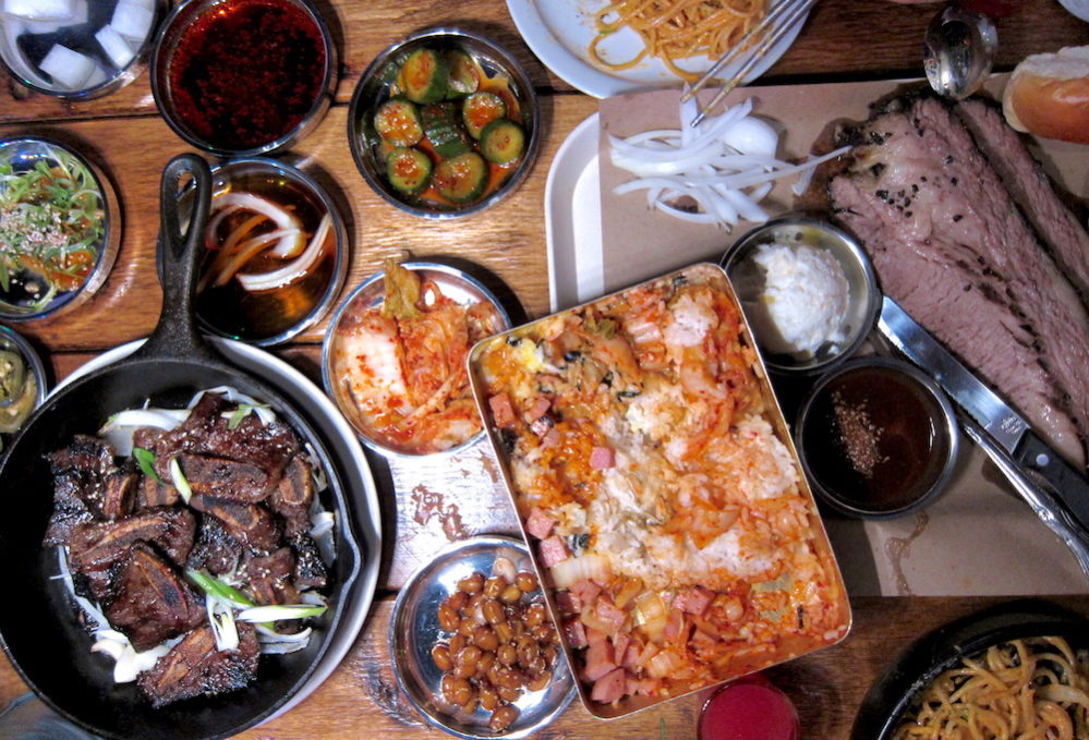 Spread of food at Ohn Korean Eatery
