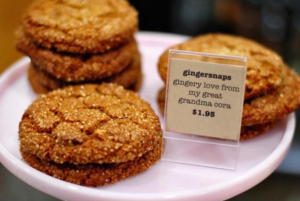 Spicy ginger snaps from Fluff Bake Bar taste like autumn.