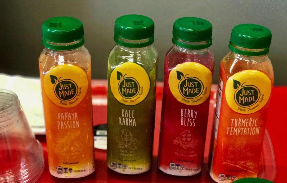 Flavors and colors collide with Just Made Foods juices.