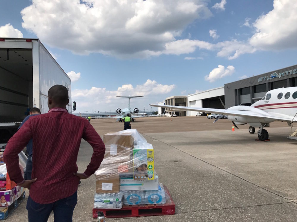 Houston Food Bank donations come by air, too. Courtesy photo
