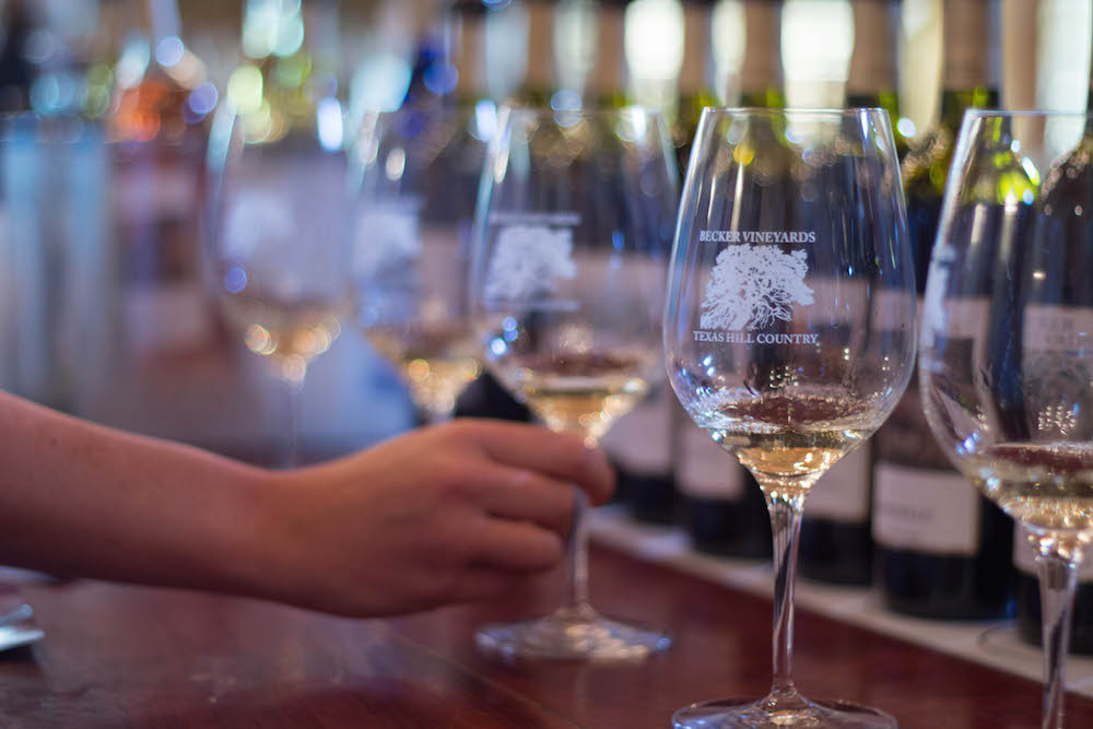 Tastings at Becker Vineyards.
