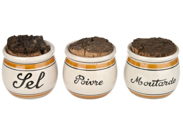 French seasoning crock trio from relique.com.