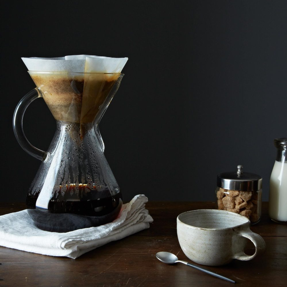 A Stumptown Chemex coffee system is the perfect gift for the coffee snob you drew during Secret Santa designations. Food52.com.